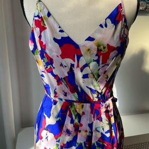 Floral silk Yumi Kim spaghetti strap dress